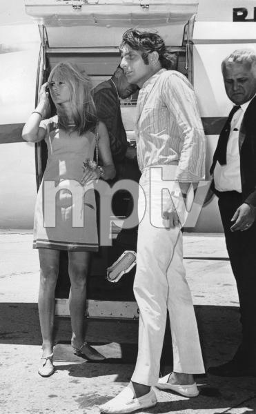 Brigitte BardotWith husband Gunther Sachs Von OpelAfter their wedding 1966 - Image 2043_0048
