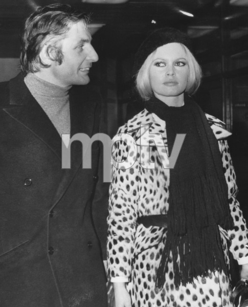 Brigitte Bardot with husband Gunter Sachs1967 - Image 2043_0155