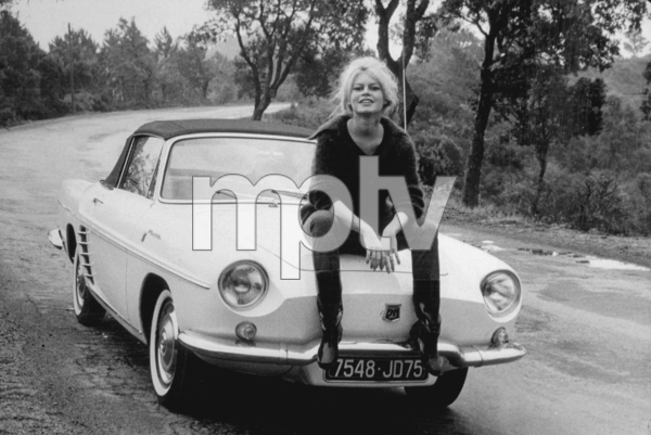 "Brigitte Bardot with her 1960 ""Floride"" Renault, C. 1960.*M.W.* - Image 2043_24"