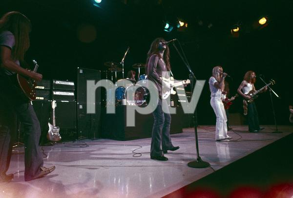 """Black Oak Arkansas"" Harvey Jett, Stanley Knight, Jim ""Dandy"" Mangrum, Patrick Daugherty circa 1972** H.L. - Image 20487_0003"