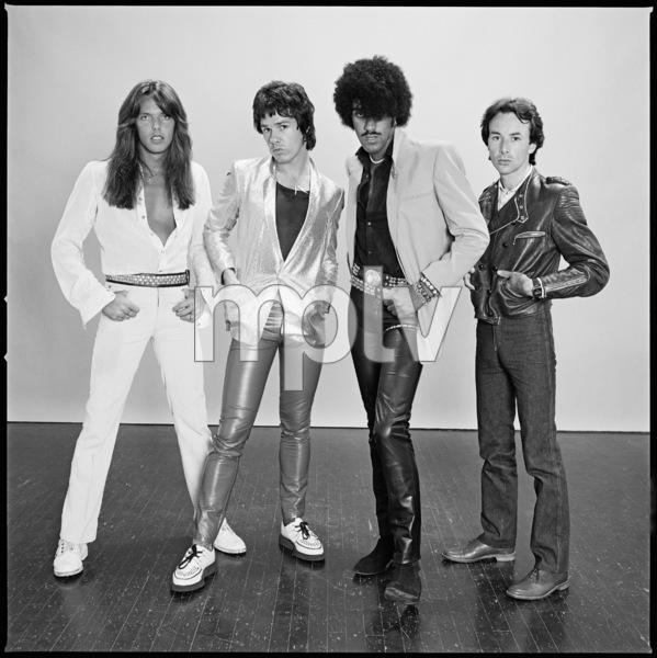 Thin Lizzy (Scott Gorham, Gary Moore, Phil Lynott, Brian Downey)1981 © 2009 Bobby Holland - Image 20490_0001
