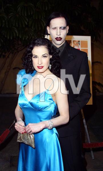 The Rules of Attraction PremiereMarilyn Manson & Dita Von TeeseEgyptian Theatre Hollywood, California 10/03/02 © 2002 Glenn Weiner - Image 20565_0172