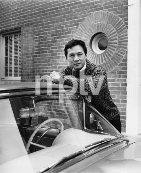 James Shigeta in front of his Georgian-Colonial home on top of the Hollywood Hillscirca 1956Photo by Joe Shere - Image 21096_0005