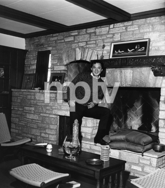 James Shigeta in his den at his Georgian-Colonial home on top of the Hollywood Hillscirca 1956Photo by Joe Shere - Image 21096_0008