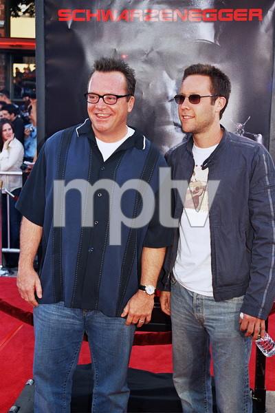 """Terminator 3: Rise of the Machines"" 6-30-03Tom Arnold and Michael RosenbaumPhoto by Cindy Burtin - Image 21316_0112"