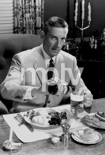 Hoagy Carmichael posing for a Rheingold beer advertisement, circa 1955. © 1978 Paul HesseMPTV - Image 2162_11