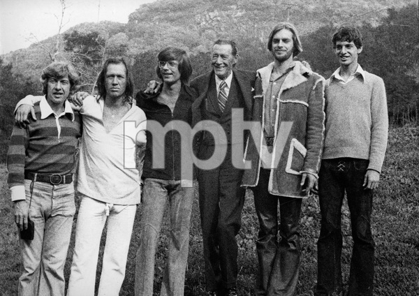 The entire Carradine family (Bruce Carradine, David Carradine, Chris Carradine, John Carradine, Keith Carradine, Robert Carradine) circa 1974 © 1978 Ulvis Alberts - Image 2166_0004