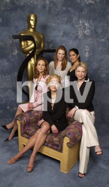"""75th Annual Academy Awards: Nominees Luncheon"" 03/10/03Diane Lane, Julianne Moore, Salma Hayek, Renee Zellweger, & Nicole KidmanPhoto by Jon Didier © 2003 AMPAS/MPTV - Image 21711_0023"
