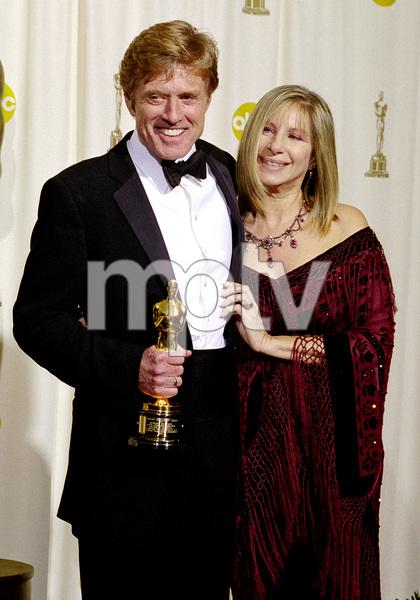 """74th Annual Academy Awards"" 03/24/02 Robert Redford & Barbra Streisand © 2002 AMPAS/MPTV - Image 21725_0007"