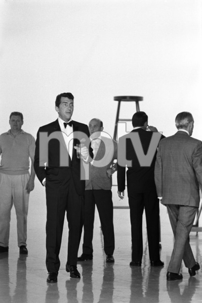 """Frank Sinatra (back to camera) and Dean Martin on an NBC """"Bing Crosby Special"""" 1963 © 1978 Gene Trindl - Image 21780_0006"""