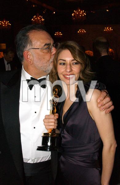 """76th Annual Academy Awards"" February 29, 2004Francis Ford Coppola & Sofia Coppola © 2004 AMPAS - Image 21781_0039"