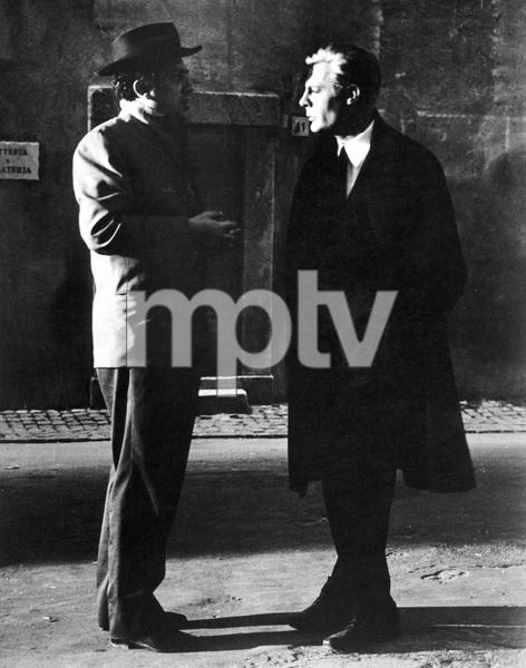 Federico Fellini, Marcello Mastroianni, on the set of 8 1/2, 1963, I.V. - Image 22184_0002