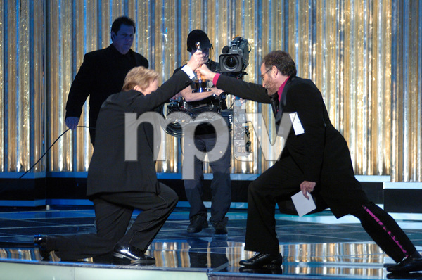 Brad Bird accepts the Academy Award for Best Animated Feature Film from Oscar winner Robin Williams during the 77th Annual Academy Awards at the Kodak Theatre in Hollywood, CA on Sunday, February 27, 2005.  HO/AMPAS - Image 22270_0175