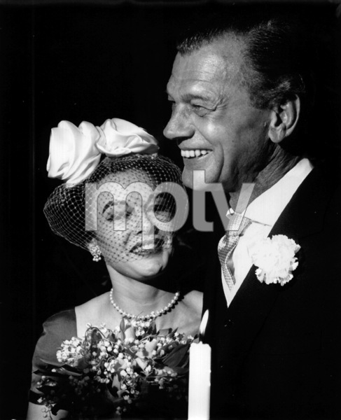 Joseph Cotten and  his bride on their wedding day, 1960.Copyright John Swope Trust / MPTV - Image 2234_0046