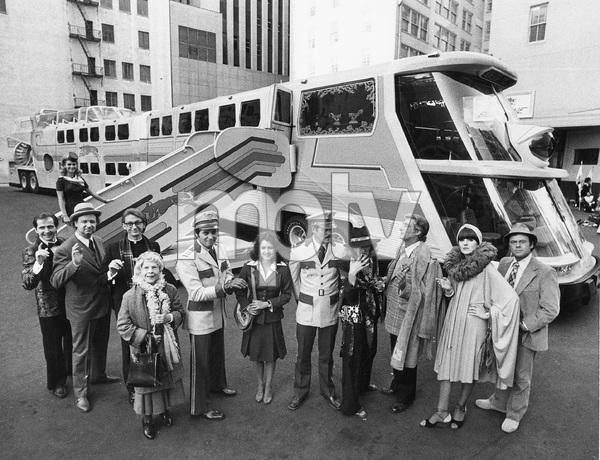 Cast of THE BIG BUS, Paramount, 1976, Stockard Channing, Joseph Bologna, Rene Auberjonois, Ned Beatty, Bob Dishy, Jose Ferrar, Ruth Gordon, Lynn Redgrave, Richard Mulligan, Sally Kellerman - Image 22345_0001