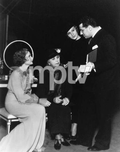 """Billie Burke with Louise Closser Hale, Madge Evans and director George Cukor in """"Dinner at Eight""""1933** B.L. - Image 2248_0007"""