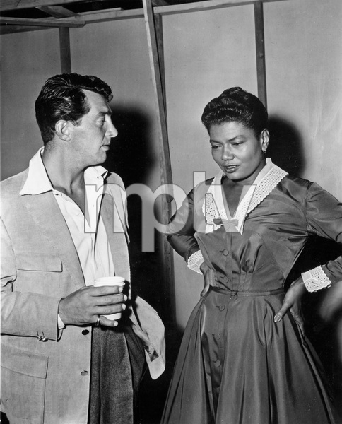 """THAT CERTAIN FEELING"" Dean Martin visits Pearl Bailey on the set, PARAMOUNT, 1956, I.V. - Image 22727_0016"