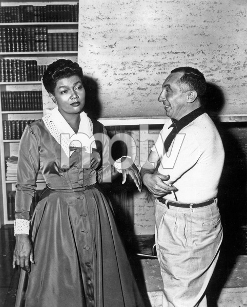 """""""THAT CERTAIN FEELING"""" Pearl Bailey and choreographer Nick Castle, PARAMOUNT, 1956, I.V. - Image 22727_0017"""