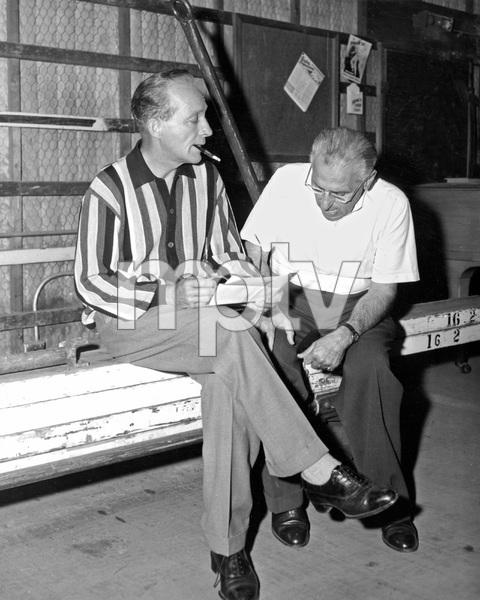 Bing Crosby, George Cuckor, mid 1950