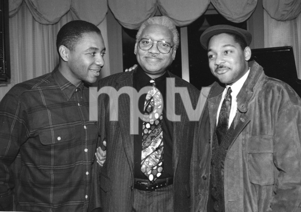 Family of Jazz, Ellis Marsalis is joined by his two sons, Branford and Wynton, 1992, I.V. - Image 22727_0257
