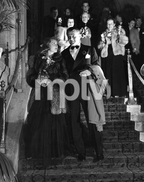 Bette Davis and husband Arthur Farnsworth attending annual Warner Brothers Club dinner held at the Biltmore Hotel in Los Angeles, 1941, Photo by Longworth, I.V. - Image 22727_0409