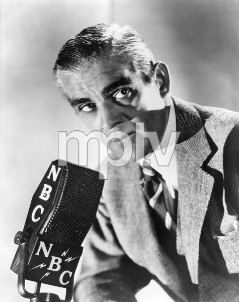 Boris Karloff doing NBC radio show, early 1940