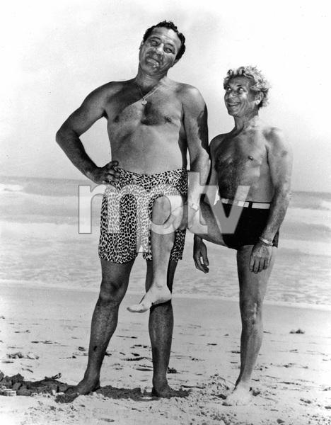 Boxer Max Baer and Harpo Marx circa 1940s ** I.V. - Image 22727_0693