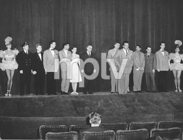 """THE ED SULLIVAN SHOW"" First episode 6/20/48, Ed Sullivan, Dean Martin, Jerry Lewis, Richard Rodgers, Oscar Hammerstein II, I.V. - Image 22727_1288"