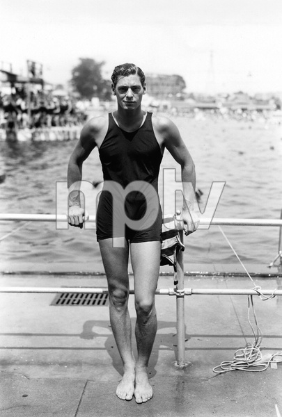 Johnny Weissmuller shortly after winning at the Olympicscirca 1920s** I.V. - Image 22727_1393