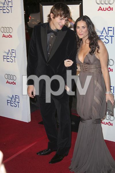 """Bobby"" (AFI Fest Opening Night Gala and U.S. Premiere) Ashton Kutcher, Demi Moore 11-01-2006 / Grauman"