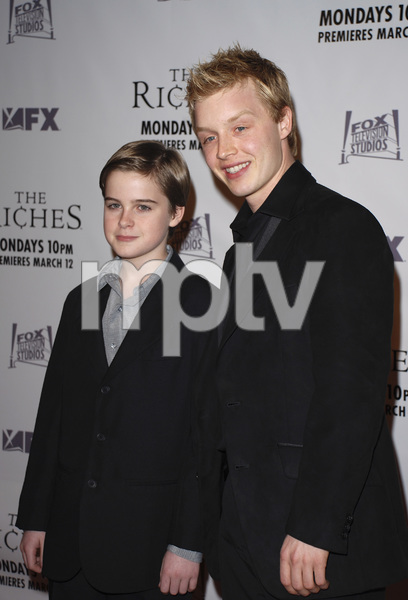 """""""The Riches"""" (Premiere)Aidan Mitchell, Noel Fisher 03-10-2007 / Zanuck Theatre / Los Angeles, CA / FX Network / Photo by Andrew Howick - Image 22955_0010"""