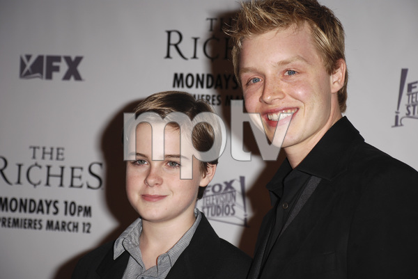 """""""The Riches"""" (Premiere)Aidan Mitchell, Noel Fisher 03-10-2007 / Zanuck Theatre / Los Angeles, CA / FX Network / Photo by Andrew Howick - Image 22955_0011"""