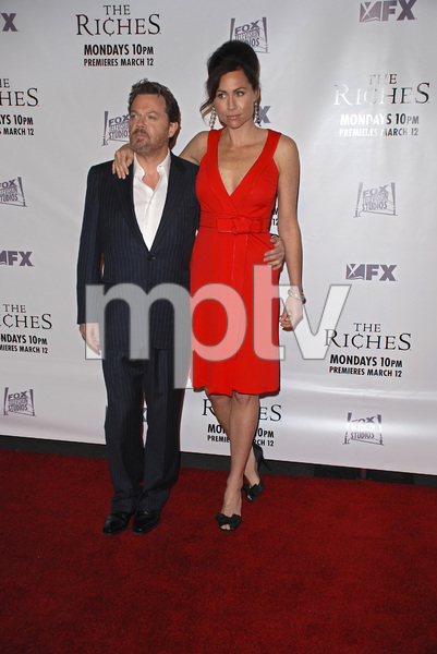 """""""The Riches"""" (Premiere)Eddie Izzard, Minnie Driver 03-10-2007 / Zanuck Theatre / Los Angeles, CA / FX Network / Photo by Andrew Howick - Image 22955_0026"""