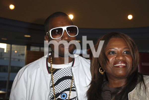 "Kanye West with mother Donda West at the book signing of ""Raising Kanye: Life Lessons from the Mother of a Hip-Hop Superstar"" 05-09-2007 / Border"
