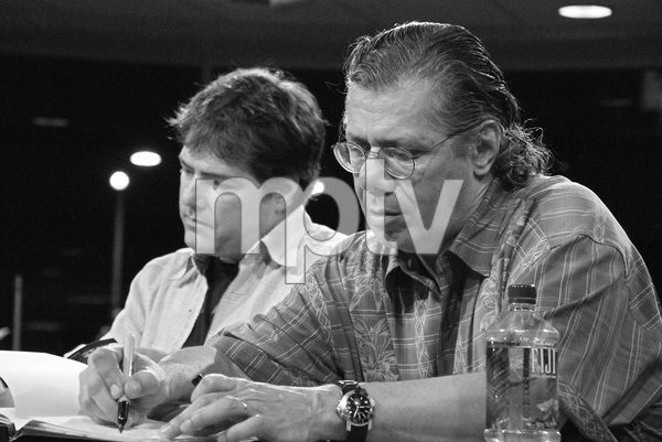 """Chick Corea and Bela Fleck during a CD signing for their new release """"The Enchantment""""05-22-2007 / Borders / Westwood, CA / Photo by Andrew Howick - Image 23084_0011"""