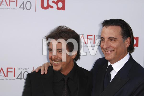 """35th Annual AFI Life Achievement Award Honoring Al Pacino""Al Pacino, Andy Garcia06-07-2007 / Kodak Theatre / Hollywood, CA / Photo by Andrew Howick - Image 23094_0036"