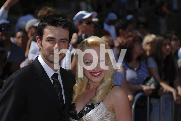 """The 34th Annual Daytime Emmy Awards""Eyal Podell, Adrienne Frantz 06-15-2007 / Kodak Theatre / Hollywood, CA / Photo by Andrew Howick - Image 23100_0102"