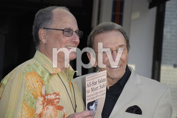 """""""80th Birthday Salute to Mort Sahl""""Budd Freidman, Norm Crosby06-28-2007 / Wadsworth Theater / Brentwood, CA / Photo by Andrew Howick - Image 23107_0003"""