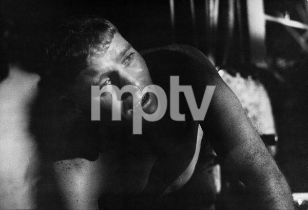 """The Rose Tattoo""Burt Lancaster as the drunken Alvaro crawling toward the sleeping Rosa (Marisa Pavan)1955 © 1978 Sanford Roth / AMPAS - Image 23129_0005"