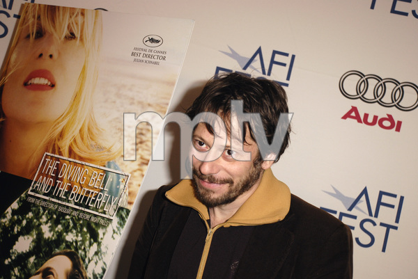 """""""The Diving Bell and the Butterfly"""" aka """"Scaphandre et le papillon, Le"""" (Premiere)Mathieu Amalric11-8-2007 / ArcLight Cinemas / Hollywood, CA / Miramax Films / Photo by Andrew Howick - Image 23235_0018"""