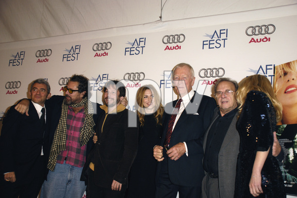 """The Diving Bell and the Butterfly"" aka ""Scaphandre et le papillon, Le"" (Premiere)Daniel Battsek, Julian Schnabel, Mathieu Amalric, Marie-Josee Croze, Max von Sydow, Ronald Harwood, Emmanuelle Seigner 11-8-2007 / ArcLight Cinemas / Hollywood, CA / Miramax Films / Photo by Andrew Howick - Image 23235_0023"