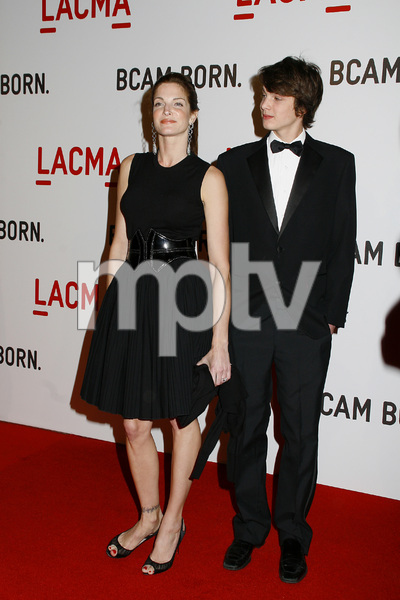 Opening Celebration of the Broad Contemporary Art Museum  Stephanie Seymour and son2-9-2008 / LACMA / Los Angeles, CA / Photo by Max Rodeo - Image 23349_0006