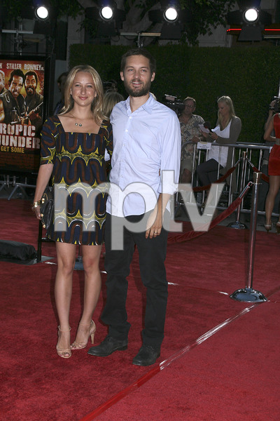 """Tropic Thunder"" Premiere Jennifer Meyer, Tobey Maguire 8-11-2008 / Mann Village Theater / Los Angeles, CA / Dreamworks / Photo by Max Rodeo - Image 23587_0053"