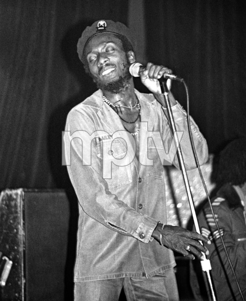 Jimmy Cliff backstage at the Roxy theater in West Hollywood firing up a joint after his concert circa late 1970s© 1978 Michael Jones - Image 23594_0010