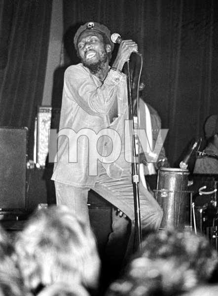 Jimmy Cliff backstage at the Roxy theater in West Hollywood firing up a joint after his concert circa late 1970s© 1978 Michael Jones - Image 23594_0011