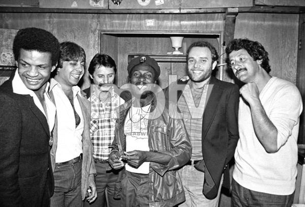 Jimmy Cliff backstage at the Roxy theater in West Hollywood firing up a joint after his concert circa late 1970s© 1978 Michael Jones - Image 23594_0016