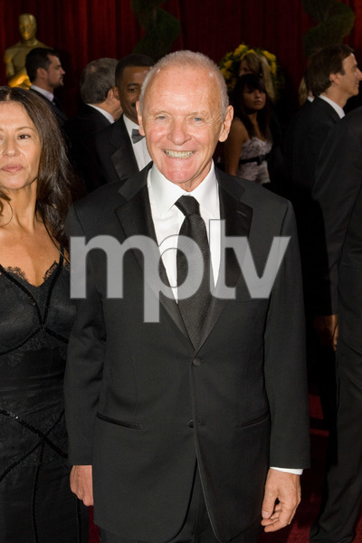 """The 81st Annual Academy Awards"" (Arrivals)Stella Arroyave, Anthony Hopkins02-22-2009Photo by Bryan Crowe © 2009 A.M.P.A.S. - Image 23704_0096"