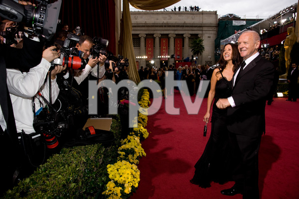 """The 81st Annual Academy Awards"" (Arrivals)Stella Arroyave, Anthony Hopkins02-22-2009Photo by Armando Flores © 2009 A.M.P.A.S. - Image 23704_0170"