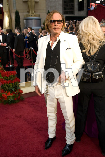 """""""The 81st Annual Academy Awards"""" (Arrivals)Mickey Rourke02-22-2009Photo by Jon Didier © 2009 A.M.P.A.S. - Image 23704_0197"""
