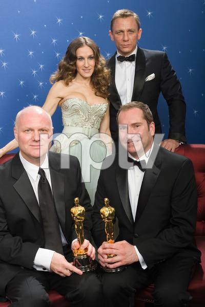 """The 81st Annual Academy Awards"" (Backstage)Donald Graham Burt, Victor J. Zolfo, Sarah Jessica Parker, Daniel Craig02-22-2009Photo by Todd Wawrychuk © 2009 A.M.P.A.S. - Image 23704_0279"
